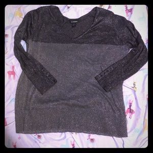 Dark grey light grey sparkle sweater